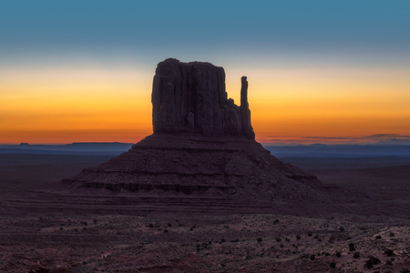 Beautiful Monument Valley at sunrise in Arizona Фото со стока