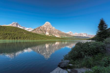 Beautiful view to Bow Lake in Alberta, Canada.