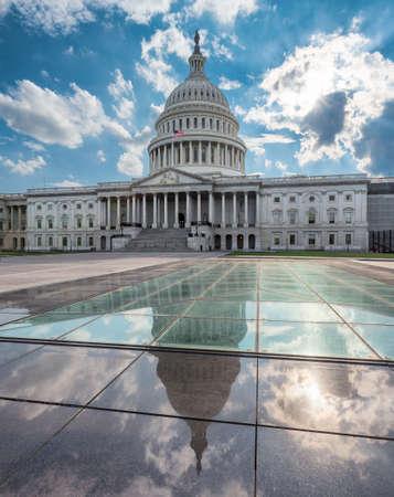 US Capitol Building at sunset, Washington DC, USA 新闻类图片