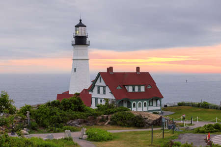 The Portland Head Lighthouse in Cape Elizabeth, New England, Maine, USA