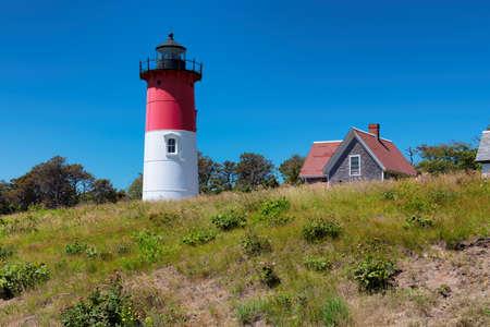 Cape Cod Lighthouse. Nauset Beach Light Lighthouse, Cape Cod, Massachusetts, New England, USA,