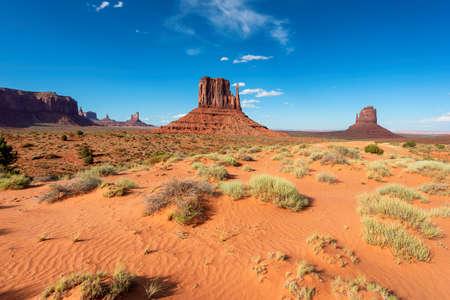 Sand dunes of desert in Monument Valley in Arizona, USA.