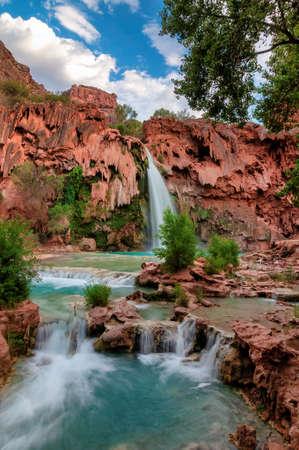Havasu Falls, waterfalls in the Grand Canyon, Arizona