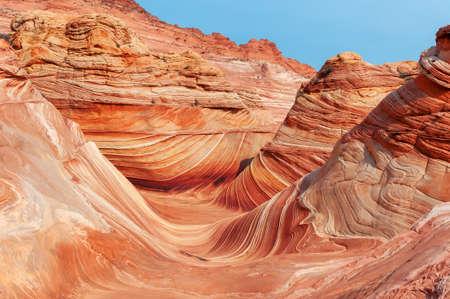 The Wave rock formation, Utah - Arizona.