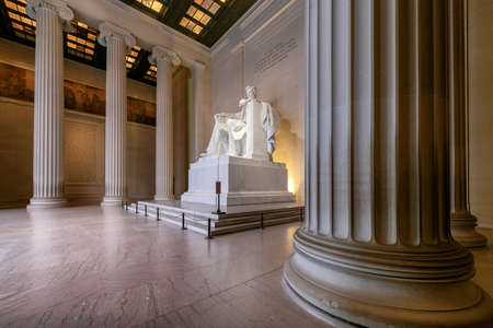Lincoln Memorial building, Washington DC, USA 免版税图像 - 152437554