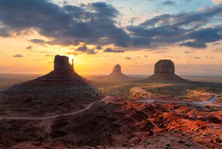 Monument Valley at sunrise, Arizona - Utah, USA.