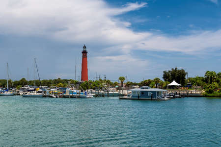 Ponce Inlet Lighthouse, marina near Port Orange