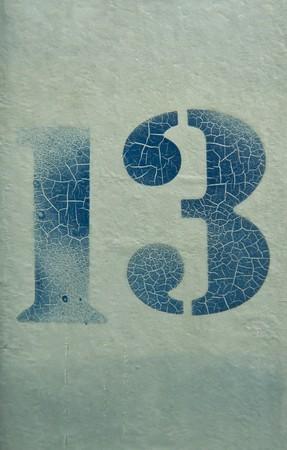 13 thirteen Stock Photo