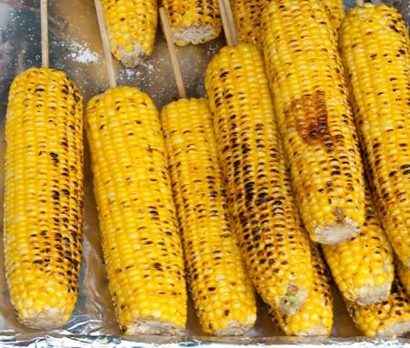 corn roasted Stock Photo