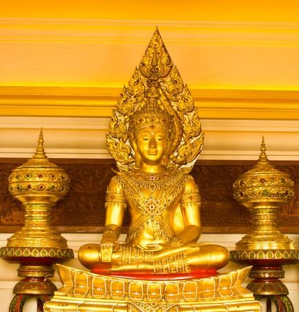 godhead: Golden buddha  Stock Photo