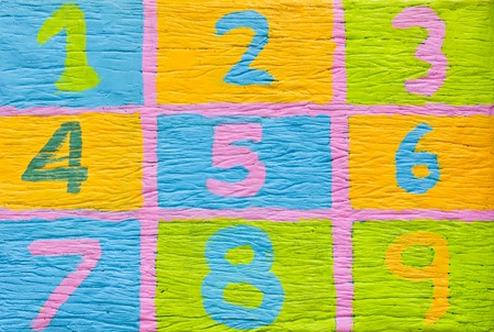 Colorful number 1-9 one to nine photo