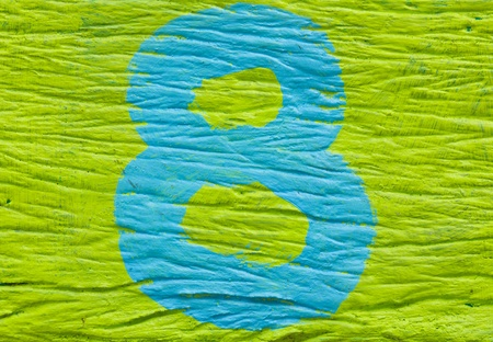 Colorful number 8 eight photo