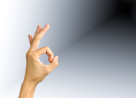 Hand showing OK sign Stock Photo - 10175213