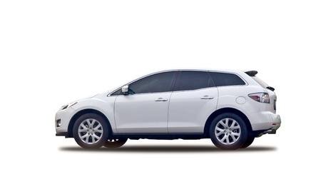 hatchback: White sport suv isolated on white background