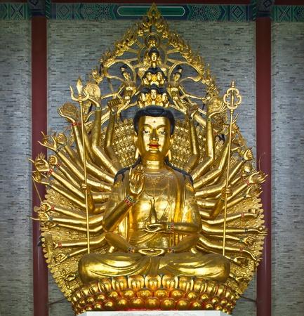 Guan Yin with ten thousand hands in china temple