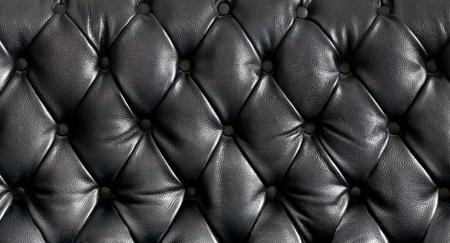 cuir: Vue rapproch�e texture du canap� en cuir noir vintage pour arri�re-plan