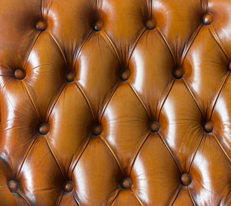 Closeup texture of vintage brown leather sofa for background photo