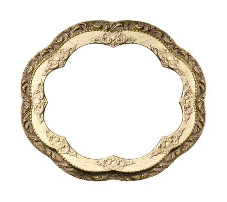 Vintrage frame isolated on white background