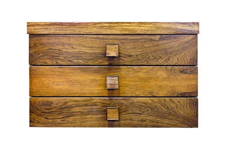 Wood drawer by teak wood photo