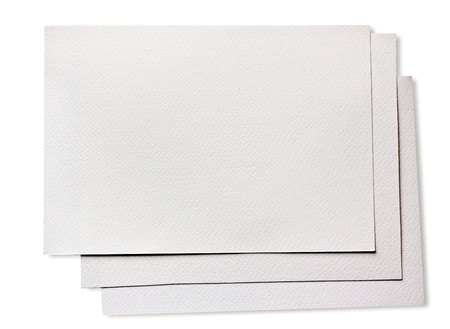 Rough clean watercolor paper isolated on white photo