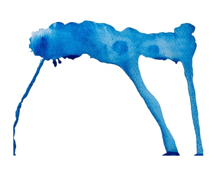 Blue Watercolor Abstract