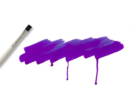 Brush and violet   watercolor painted photo
