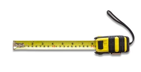 tape measure: Tape measure isolated on white background Stock Photo