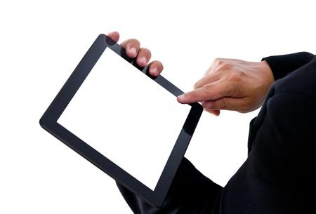 Businessman show a tablet pc