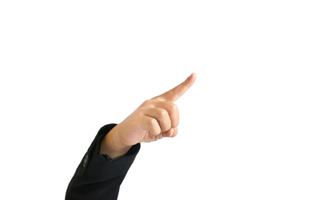 Pointing Finger of business man Stock Photo - 11108305