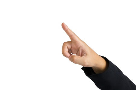 Pointing Finger of business man Stock Photo - 11108306