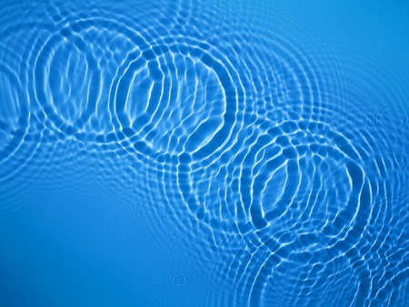 Blue circle water ripple background Stock Photo - 12734847