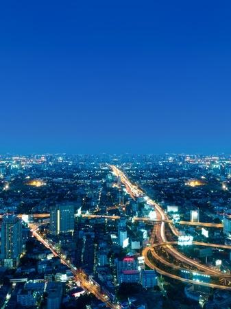 Bangkok city in the night photo