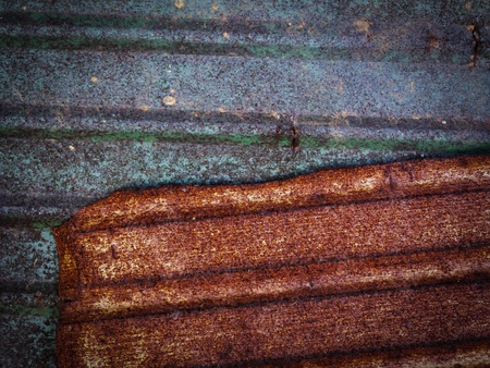 The rust on zinc metal texture for background Stock Photo - 13033347