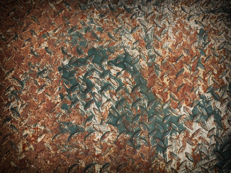 Texture of old rusty metal plate Stock Photo - 13384659