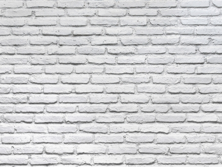 brick clay: White brick wall for a background
