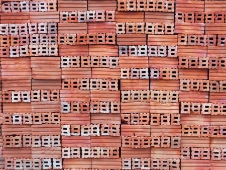 Close-up stack of orange bricks Stock Photo - 13920247
