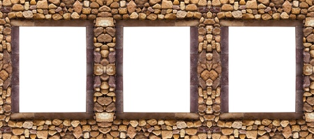 Three frame stones for spa background photo