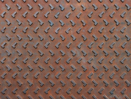 Texture of rusty steel plate for background Stock Photo - 14717373