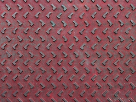 Texture of red and grunge rusty steel plate for background Stock Photo - 14717375