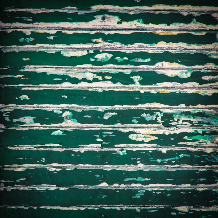 Grunge old green color wood panels for background photo
