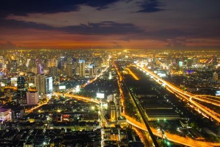 City skyline in night ,Bangkok,Thailand photo