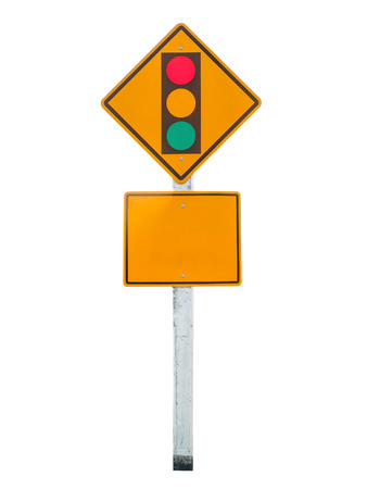 Sign of traffic lights isolated on white background