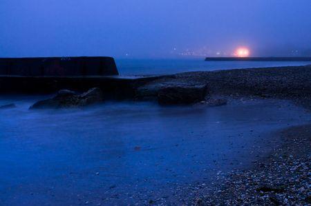 pebles: morning seashore