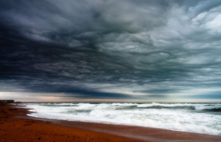 stormy seashore  photo