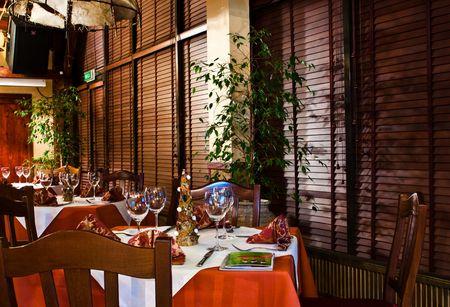 restaurante italiano: Restaurante italiano  Foto de archivo