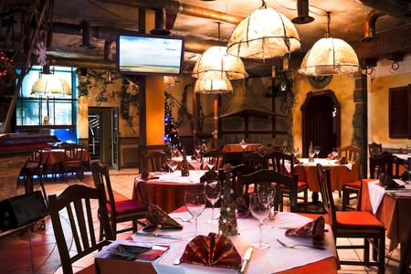 italian restaurant: Italian restaurant Stock Photo