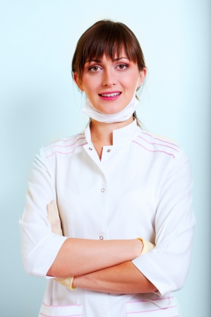 Portrait of a smiling young doctor photo