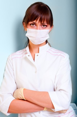 Portrait of a young doctor with bandage Stock Photo - 7761950
