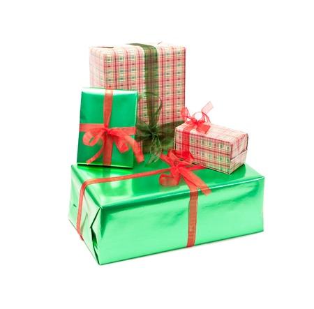 gift boxes isolated on white background Stock Photo - 8649704