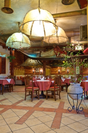 Italian restaurant with a traditional interior photo